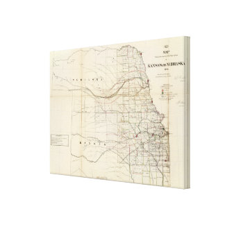 Kansas, Nebraska Canvas Print
