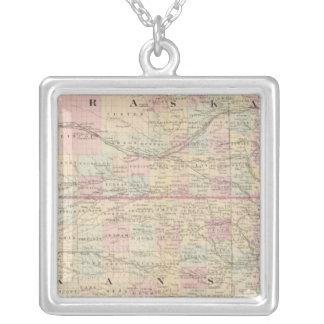 Kansas, Nebraska Silver Plated Necklace