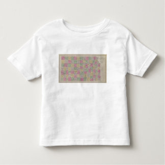Kansas Official Topographical State Atlas Toddler T-Shirt