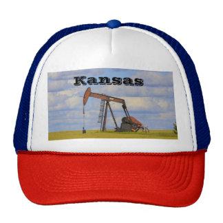 Kansas Oil Well Pump Truckers Hat