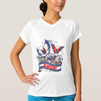 Kansas Patriotism Butterfly T-Shirt
