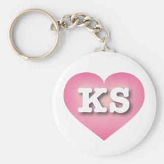 Kansas Pink Fade Heart - Big Love Key Ring