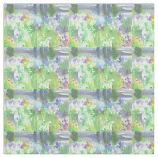 Kansas Prairie Watercolor Fabric