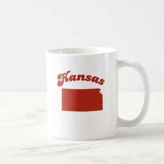 KANSAS Red State Basic White Mug