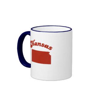 KANSAS Red State Ringer Coffee Mug
