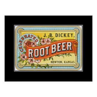 Kansas Root Beer vintage Print