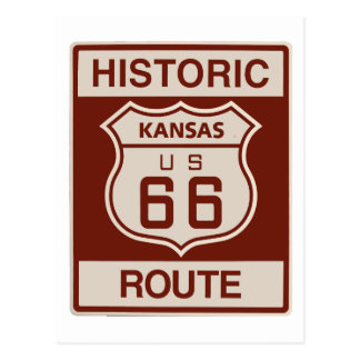 Kansas RT 66 Postcard