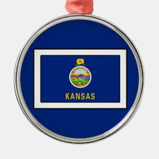 Kansas Silver-Colored Round Decoration