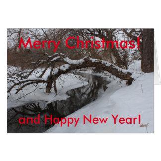 Kansas Snowy Creek Christmas Card