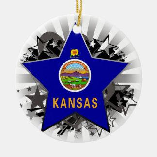 Kansas Star Christmas Ornament