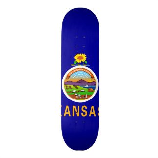 Kansas State Flag Skate Deck