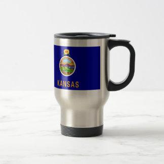 Kansas State Flag Travel Mug