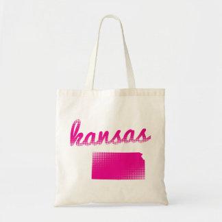 Kansas state in pink tote bag