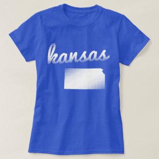 Kansas state in white T-Shirt