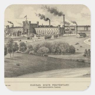 Kansas State Penitentiary Square Sticker