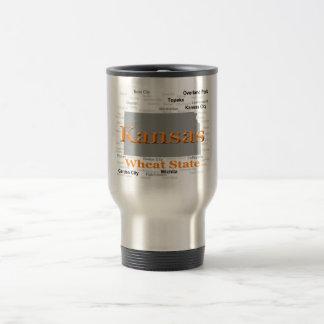 Kansas State Pride Map Coffee Mugs