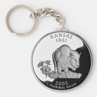 Kansas State Quarter Key Ring