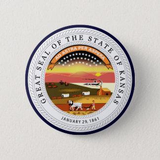 Kansas State Seal 6 Cm Round Badge