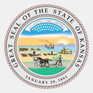 Kansas state seal america republic symbol flag