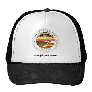 Kansas State Seal and Motto Cap