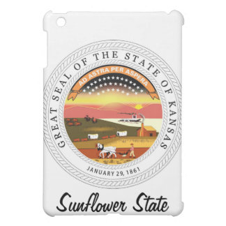 Kansas State Seal and Motto iPad Mini Cover