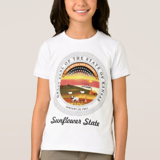 Kansas State Seal and Motto T-Shirt