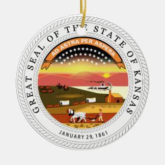 Kansas State Seal Christmas Ornament
