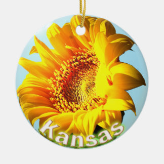 Kansas Sunflower Christmas Ornament