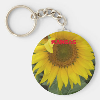 Kansas Sunflower Key Chain