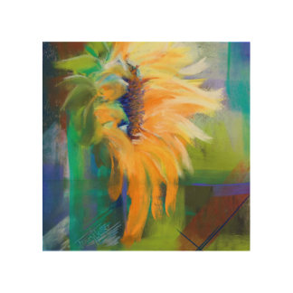 Kansas Sunflower Wood Canvases