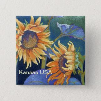 Kansas Suns Sunflowers USA 15 Cm Square Badge