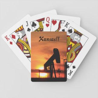 Kansas Sunset/Silhouette Pump Playing Card's Poker Deck