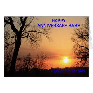 Kansas Sunset Wedding Anniversary Card
