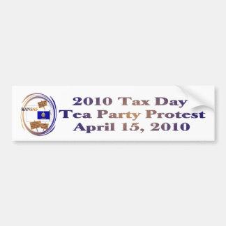 Kansas Tax Day Tea Party Protest Bumper Sticker Car Bumper Sticker