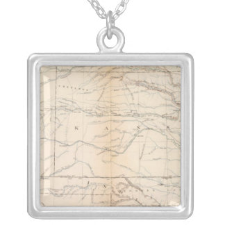 Kansas, Texas, Indian Territory Silver Plated Necklace
