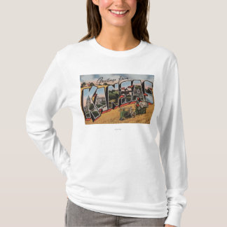 Kansas (Tractor & Hay Bailer Scene) T-Shirt