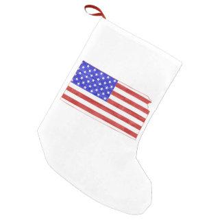 Kansas USA silhouette state map Small Christmas Stocking
