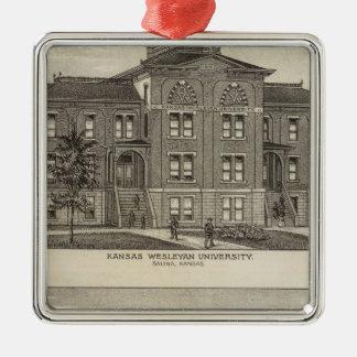 Kansas Wesleyan University Christmas Ornament