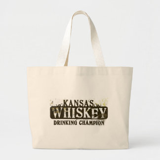 Kansas Whiskey Drinking Champion Canvas Bags