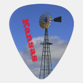 Kansas Windmill with Sky Guitar PICK