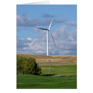 Kansas Windmills Greeting Card