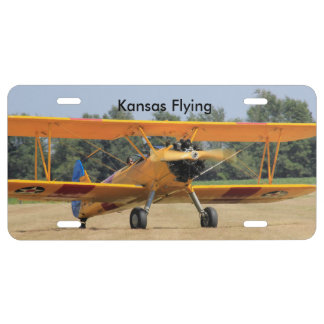 Kansas Yellow Airplane CAR TAG License Plate