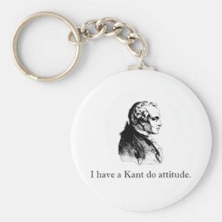Kant Do Attitude Basic Round Button Key Ring
