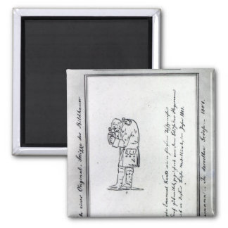 Kant mixing mustard, 1801 square magnet