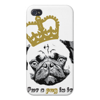 Kantno Prince Of Pugs iPhone 4 case