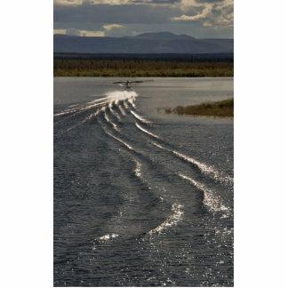 Kanuti Lake floatplane wake Photo Sculpture