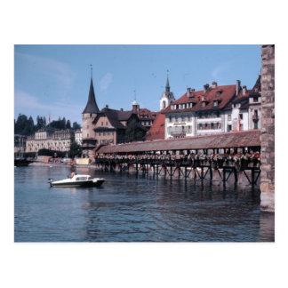 Kapellbrücke Chapel Bridge Lucerne Swtizerland Postcard