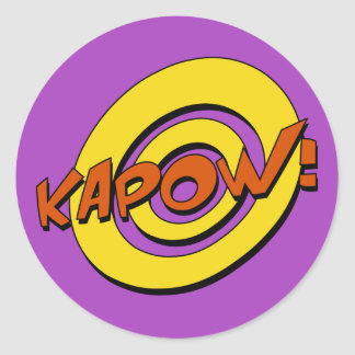 Kapow Comic Book Sticker