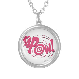 KAPOW! SILVER PLATED NECKLACE