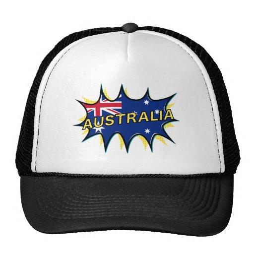 """""""Kapow""""  Starburst Australian flag Trucker Hat"""